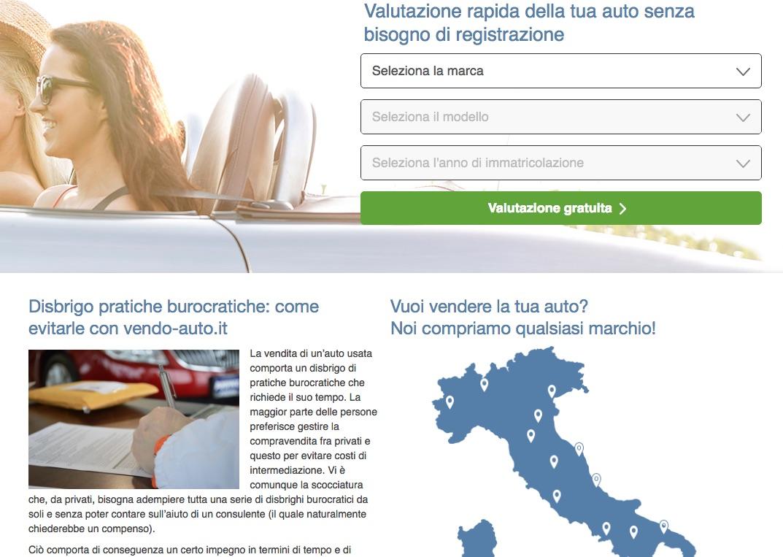 vendo auto online